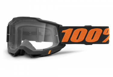 Maschera 100% ACCURI 2 | Black Orange Chicago | Vetri trasparenti