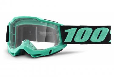 Maschera 100% ACCURI 2 | Black Green Tokyo | Vetri trasparenti
