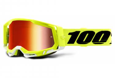Máscara 100% RACECRAFT 2 red yellow