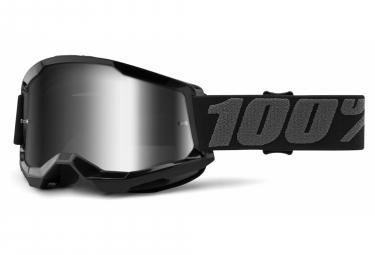 100% STRATA Maske 2 | Schwarz | Mirror Argents Brille