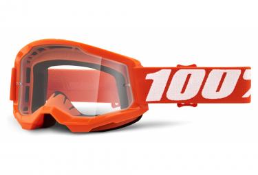 Maschera 100% STRATA 2 | Orange | Vetri trasparenti