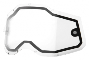 Ecran de remplacement 100% Racecraft2/Accuri2/Strata2 | Vented Dual Pane Clair
