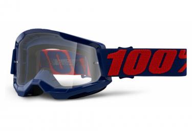 100% STRATA Maske 2 | Rot Blau Masego | Klare Brille