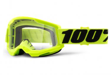 100% Strata 2 Mask Yellow / Transparent Screen