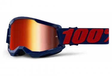 100% STRATA Maske 2 | Rot Blau Masego | Rote Spiegelgläser