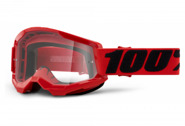 Masque 100% STRATA 2   Rouge   Verres Clairs