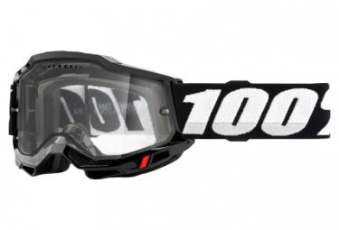 100% ACCURI 2 Enduro MTB Maske | Schwarz | Klare Brille