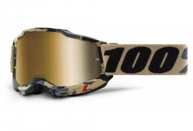 100% ACCURI 2 mask | Gold Tarmac | True Gold lenses