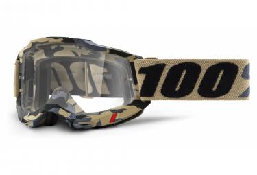 Maschera 100% ACCURI 2 | Gold Tarmac | Vetri trasparenti