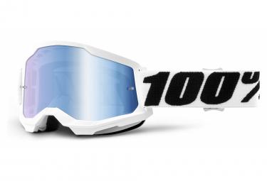 100% STRATA Maske 2   Weiß Schwarz Everest   Klare Brille