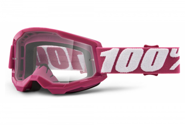 100% STRATA 2 mask | White Rose | Clear glasses