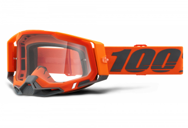 Máscara 100% RACECRAFT 2 clear orange