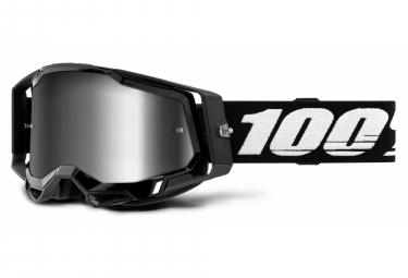 Maske 100% | RACECRAFT 2 Schwarz | Mirror Argents Brille