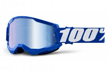Maschera 100% STRATA 2 | Blu | Occhiali a specchio blu