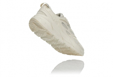 Chaussures de Running Hoka One One Clifton Leather Cuir Beige