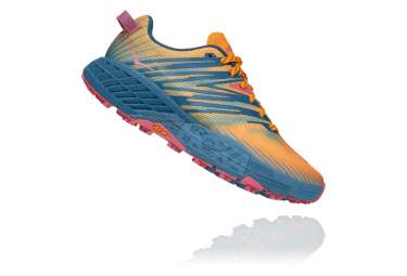 Chaussures de Trail Femme Hoka One One SpeedGoat 4 Jaune / Bleu