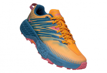 Zapatillas Trail Mujer Hoka Speedgoat 4 Amarillo   Azul 38 2 3