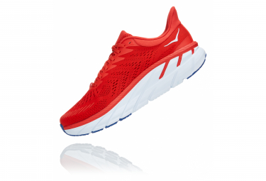 Chaussures de Running Hoka One One Clifton 7 Rouge / Blanc