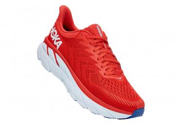 Hoka Clifton 7 Fiesta Red Running Shoes