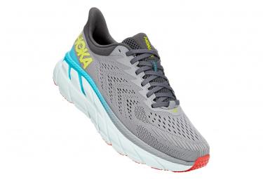 Hoka Clifton 7 Gray / Multi-Color Running Shoes