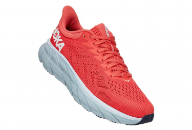 Chaussures de Running Femme Hoka One One Clifton 7 Rouge / Blanc
