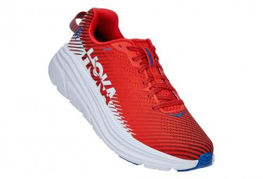 Hoka Rincon 2 Fiesta Red White Running Shoes