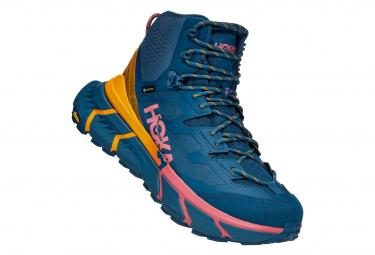 Zapatillas De Senderismo Hoka Tennine Hike Gtx Azul   Amarillo   Rosa 40 2 3