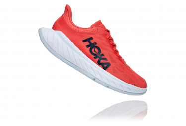 Chaussures de Running Femme Hoka One One Carbon X 2 Rouge / Blanc