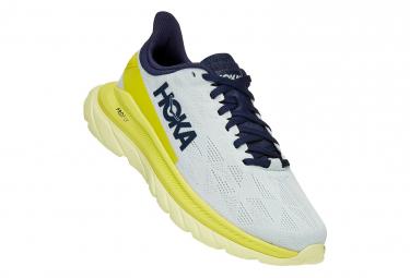 Zapatillas Running Hoka Mach 4 Clean Energy Para Mujer Azul Amarillo 42 2 3