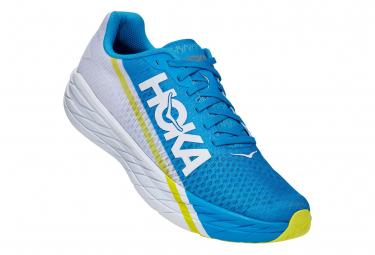 Chaussures de Running Hoka One One Rocket X Fiesta Bleu / Blanc