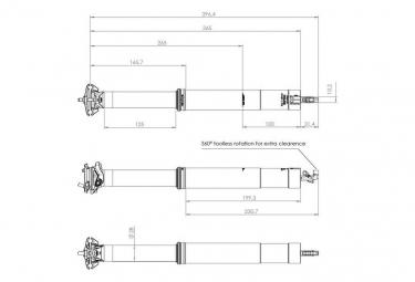 Bike Yoke Revive 2.0 Max Interne Teleskop-Sattelstütze (keine Kontrolle)