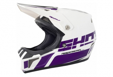 Image of Casque integral shot rogue revolt blanc violet ultraviolet l 59 60 cm