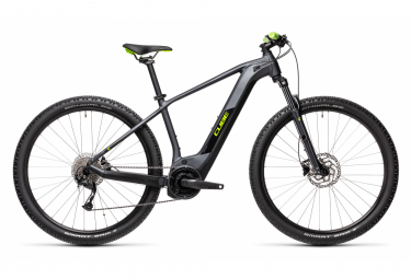 VTT Électrique Semi-Rigide Cube Reaction Hybrid Performance 500 Shimano Alivio 9V 500 Wh 29'' Gris Iridium Vert 2021