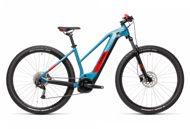 Cube Reaction Hybrid Performance 500 Trapeze Electric Hardtail MTB Shimano Alivio 9S 500 Wh 29'' Blue Red 2021