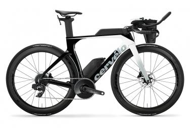 Vélo de Triathlon Cervelo P-SE Sram Force eTap AXS 12V 2020 Blanc / Noir