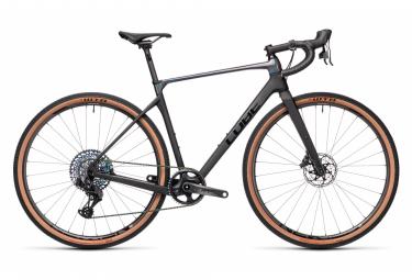 Bicicletta Gravel Cube Nuroad C:62 SL Sram Force eTap AXS 12S 700 mm Carbon Grey Prizmblack 2021