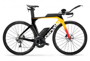 Bicicleta triatlon cervelo p se disc shimano ultegra r8000 11v negro   amarillo 2020 54 cm   170 180 cm