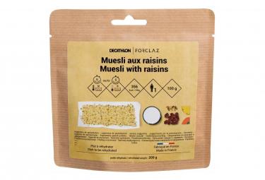 Déjeuné lyophilisé Forclaz Muesli Céréales Raisin 100 G