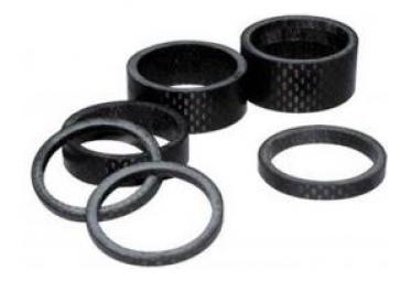 Bague de rehausse carbone 5 mm 1pouce