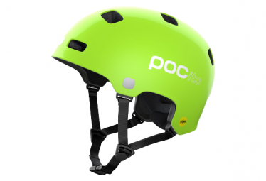 Casco Nino Poc Pocito Crane Mips Verde M L  55 58 Cm