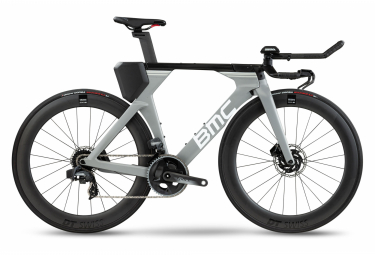 Bicicleta de triatlón BMC Timemachine 01 Disc One Sram Force eTap AXS 12S 700 mm Airforce Grey 2021