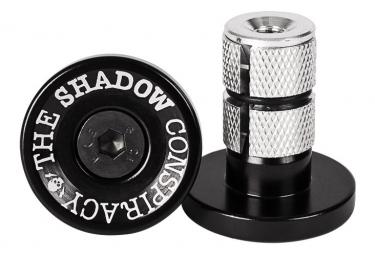 The Shadow Conspirancy Deadbolt Bar Ends BMX Bar Ends Black / Silver
