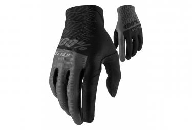 100% Celium Long Handschuhe Schwarz / Grau