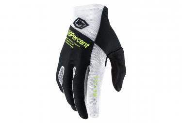 Paar 100% Celium Handschuhe Schwarz / Weiß / Fluo Gelb