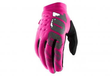 Paio di guanti da donna 100% Brisker Pink / Black