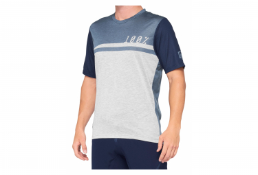 Maillot Manches Courtes 100% Airmatic Jersey Bleu / Gris