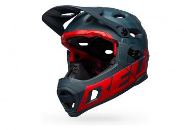 Casque avec Mentonnière Amovible Bell Super DH Spherical Mips Bleu / Rouge Crimson 2021