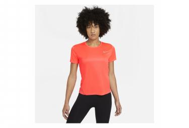 Maillot manches courtes Nike Miler Rose Femme