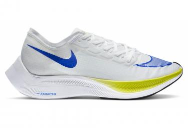 Nike ZoomX Vaporfly Next Ekiden Blanco Azul Amarillo Unisex Zapatillas Running