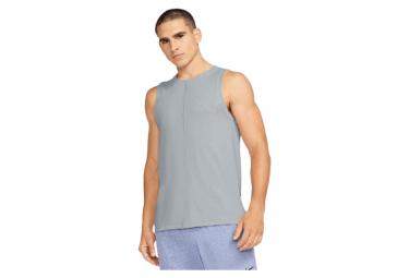 Camiseta Sin Mangas Nike Dri Fit Yoga Gris Para Hombre S
